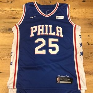 Nike Bens Simmons Jersey Raised Stitching 50 4+